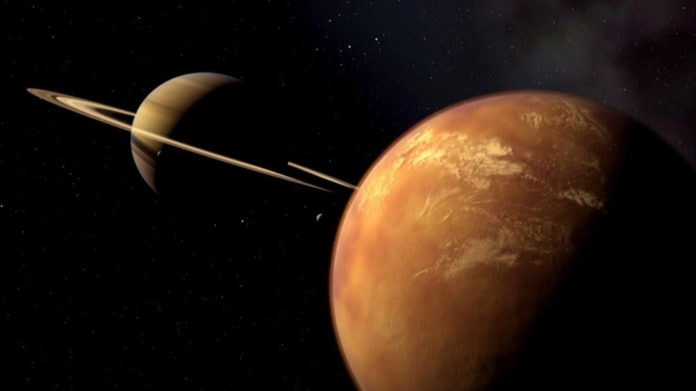 Титан и Сатурн