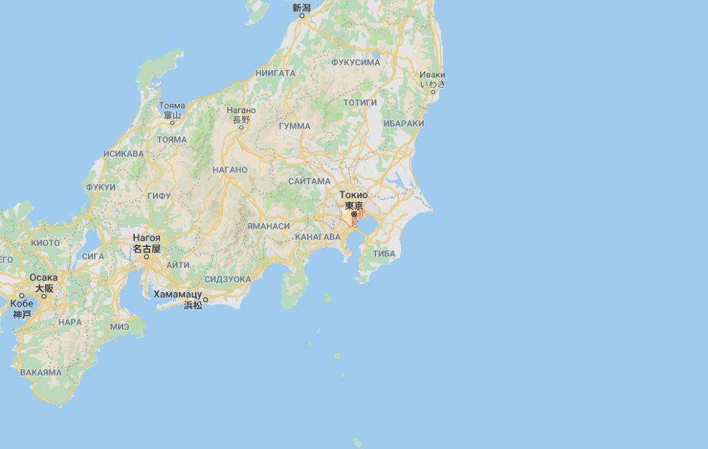 Токио на карте
