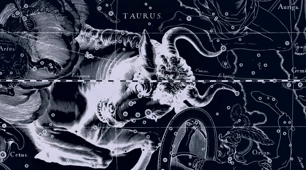 Изображение Тельца вместе с богами и мифическими существами