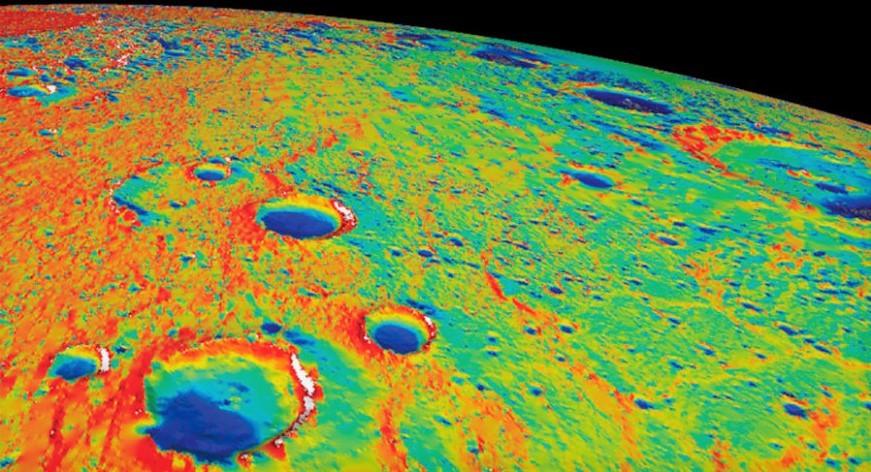 Тепловая карта поверхности Меркурия