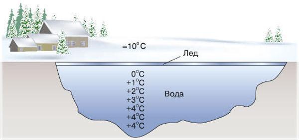Температура воды подо льдом
