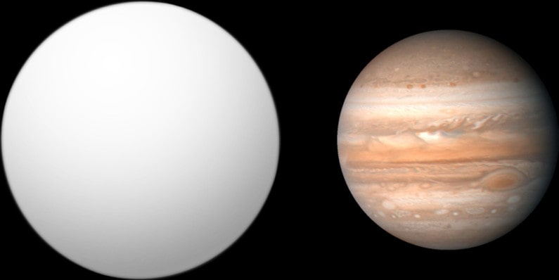 Сравнение TrES-2 b и Юпитера