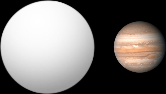 Сравнение TRES-4B и Юпитера
