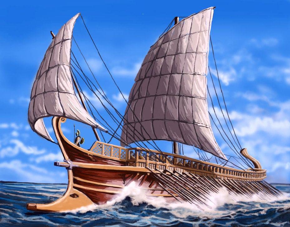 Древнегреческая триера