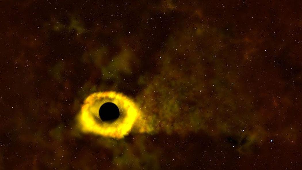 Астрономы наблюдали разрыв звезды черной дырой