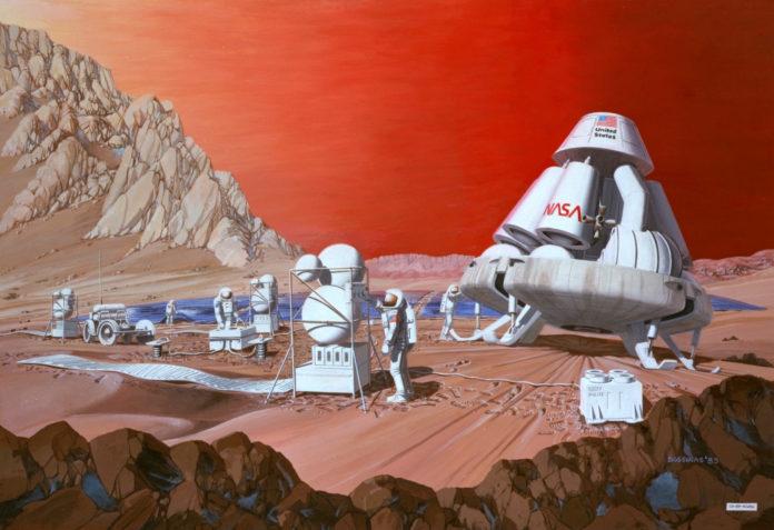 Ученые определили, где люди могут высадиться на Марс ©Les Bossinas, Lewis Research Center, NASA