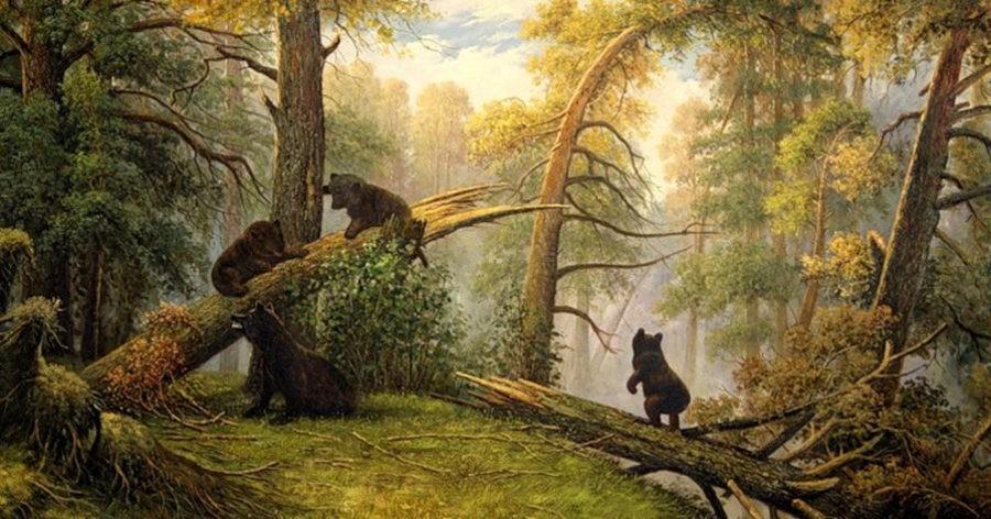 И. И. Шишкин, К. А. Савицкий Утро в сосновом лесу. 1889 Холст, масло.