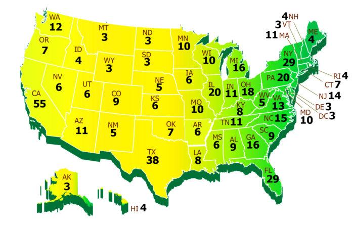 Почему в разных штатах разное количество выборщиков?