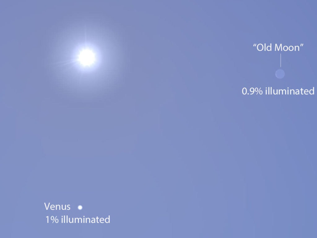 Венера днем