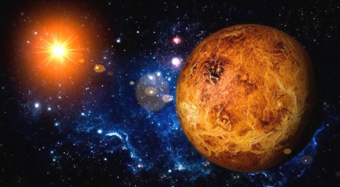 Изображение Венеры в близости от Солнца