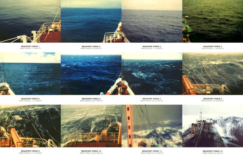 Волнение океана по шкале Бофорта
