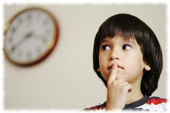Оценка времени ребенком затруднена