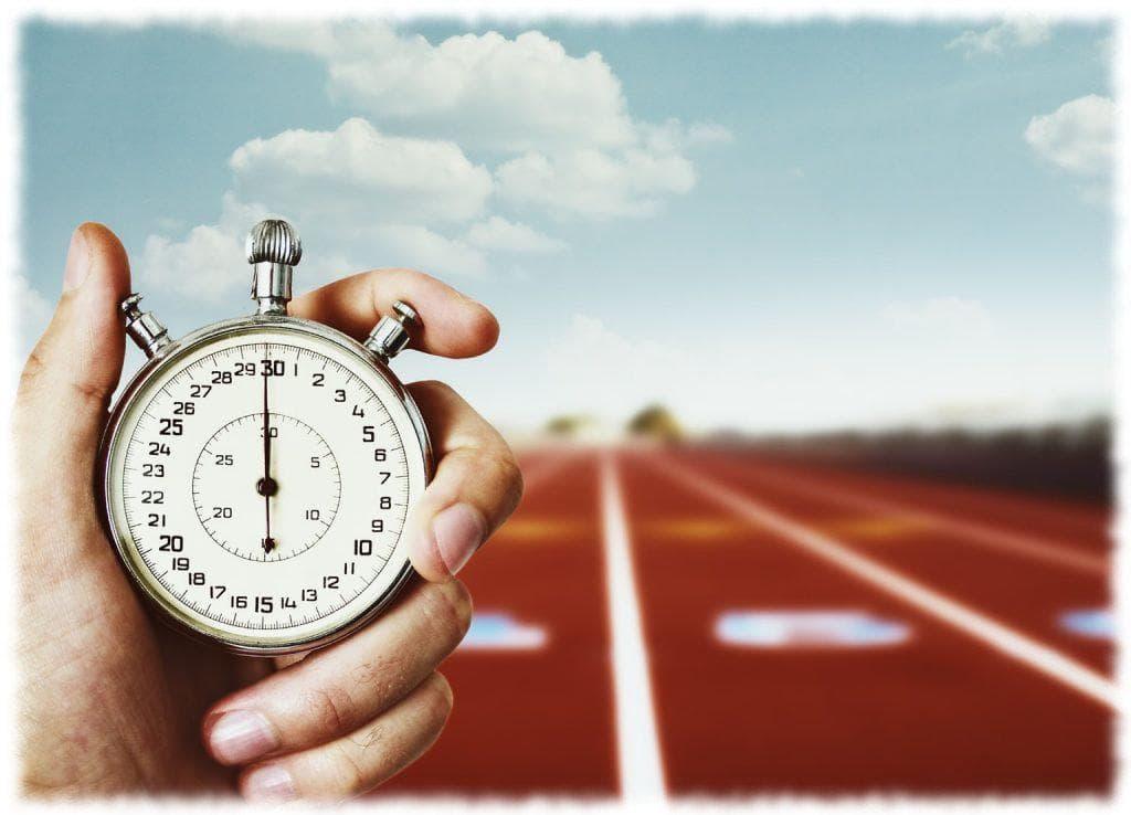 Измерение времени секундомером