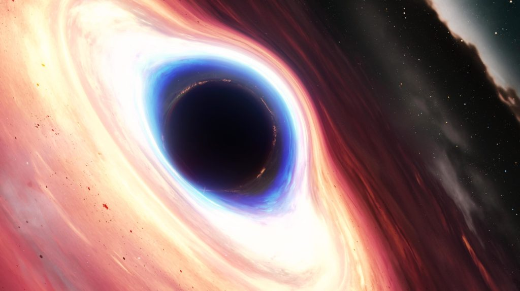 Изображение черной дыры с четко выраженным горизонтом событий