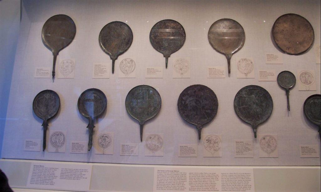 Старинные зеркала из меди, золота, серебра и олова