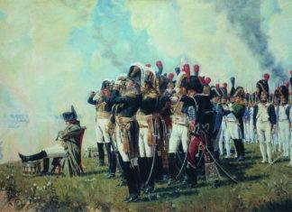 Наполеон I на Бородинских высотах. Верещагин В.В.