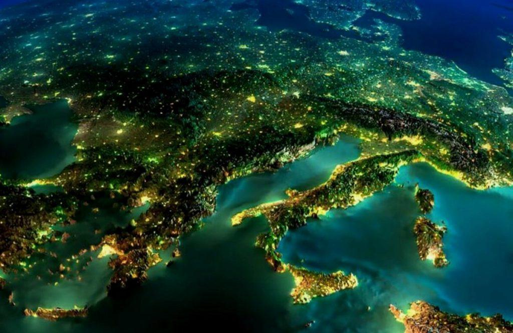 Снимок населенных пунктов из космоса
