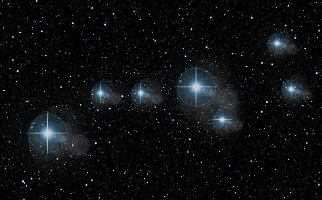 Искусственное выделение звезд Большой Медведицы