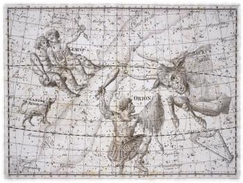 Древнегреческое изображение звездного неба
