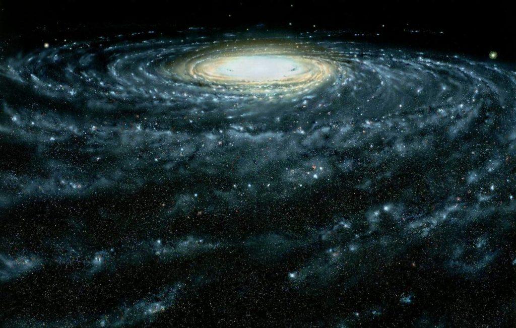 Изображение Млечного Пути с акцентом на звезды