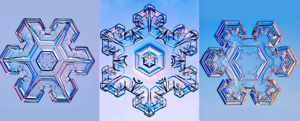 Снежинки в виде звезды